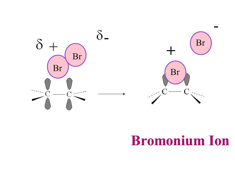 Br + - - + Bromonium Ion