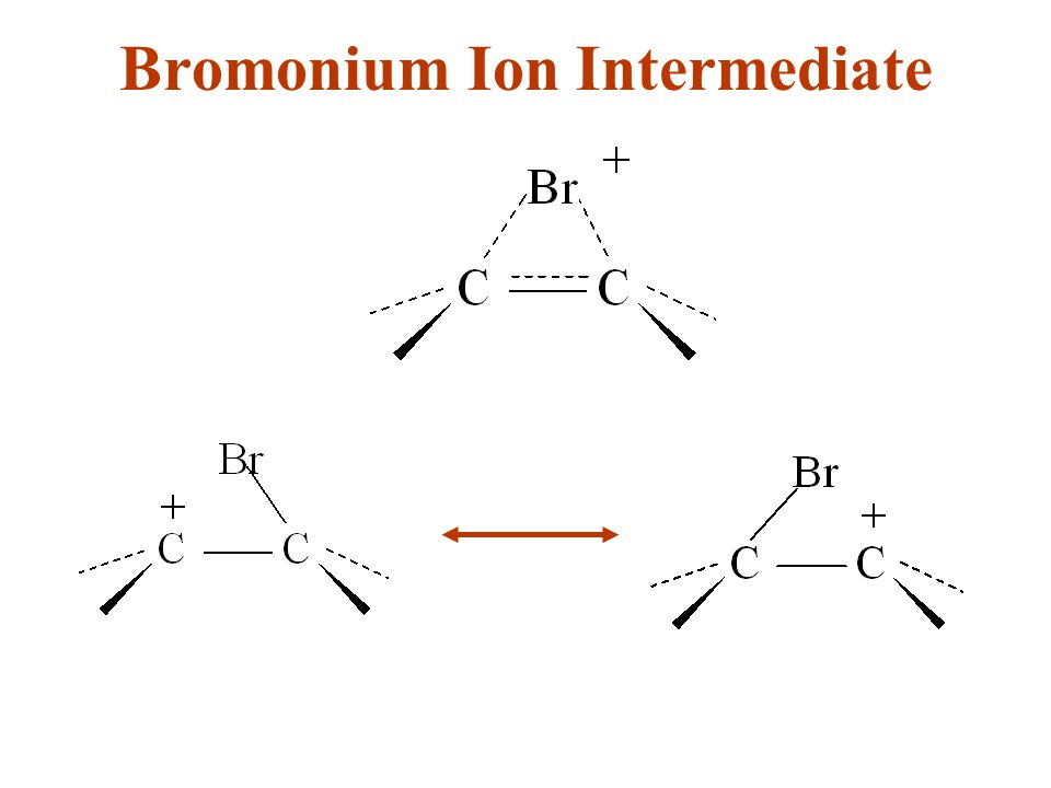 Bromonium Ion Intermediate