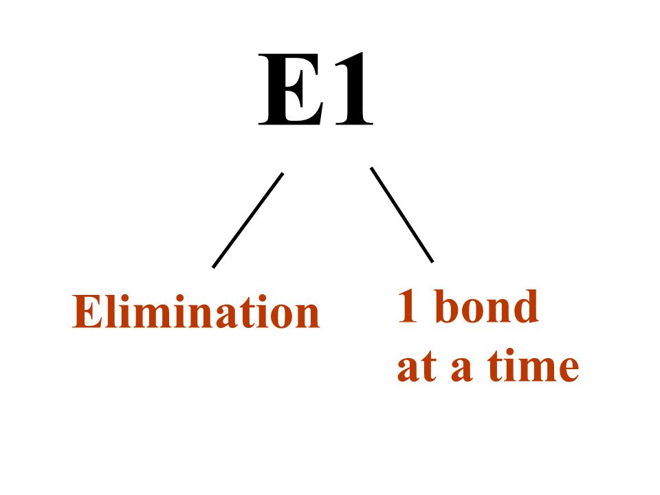 Elimination 1 bond at a time E1
