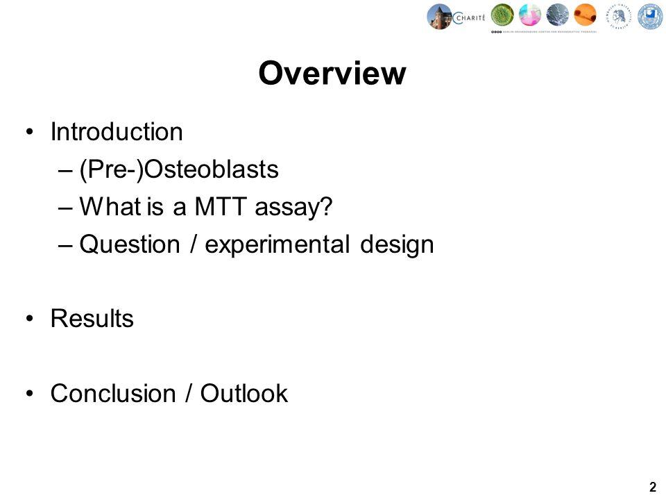 3 (Pre-)Osteoblasts MC3T3-E1 –Pre-osteoblasts –Mus musculus –Bone/calvaria –Adherent growth –Fibroblast morphology –model osteoblast cell line 25 µm http://www.flickr.com/photos/cambridgeuniversity-engineering/4708106047/sizes/o/in/photostream/ Introduction