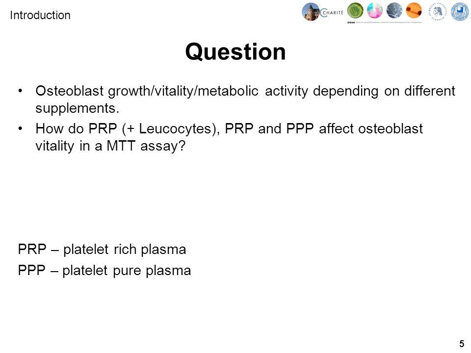 6 Experimental design ALP testMTT test Differentiation: Osteoblasts Seeding Pre-Osteoblasts + Ascorbic Acid Introduction