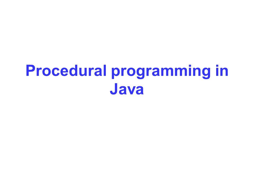 Procedural programming in Java