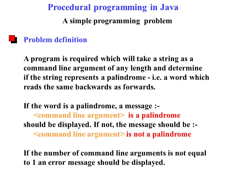 A simple programming problem Problem definition A program is required which will take a string as a command line argument of any length and determine