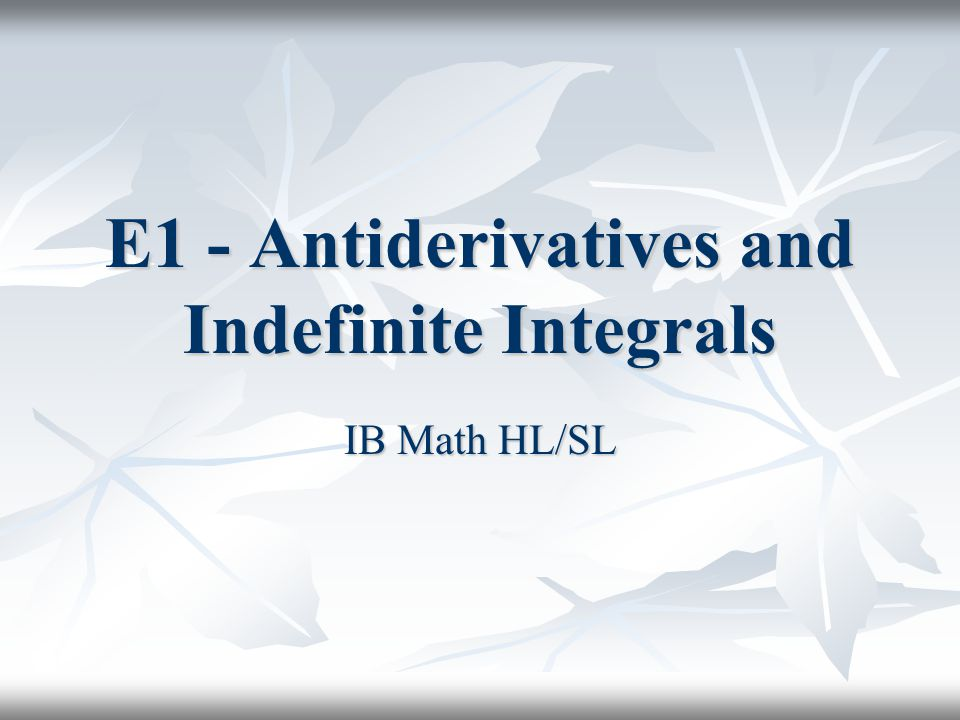 (I) Internet Links Calculus I (Math 2413) - Integrals from Paul Dawkins Calculus I (Math 2413) - Integrals from Paul Dawkins Calculus I (Math 2413) - Integrals from Paul Dawkins Calculus I (Math 2413) - Integrals from Paul Dawkins Tutorial: The Indefinite Integral from Stefan Waner s site Everything for Calculus Tutorial: The Indefinite Integral from Stefan Waner s site Everything for Calculus Tutorial: The Indefinite Integral from Stefan Waner s site Everything for Calculus Tutorial: The Indefinite Integral from Stefan Waner s site Everything for Calculus The Indefinite Integral from PK Ving s Problems & Solutions for Calculus 1 The Indefinite Integral from PK Ving s Problems & Solutions for Calculus 1 The Indefinite Integral from PK Ving s Problems & Solutions for Calculus 1 The Indefinite Integral from PK Ving s Problems & Solutions for Calculus 1 Karl s Calculus Tutor - Integration Using Your Rear View Mirror Karl s Calculus Tutor - Integration Using Your Rear View Mirror Karl s Calculus Tutor - Integration Using Your Rear View Mirror Karl s Calculus Tutor - Integration Using Your Rear View Mirror