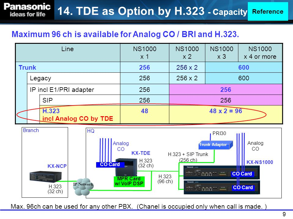 20 KX-NS8290 PRI adapter supports following features.