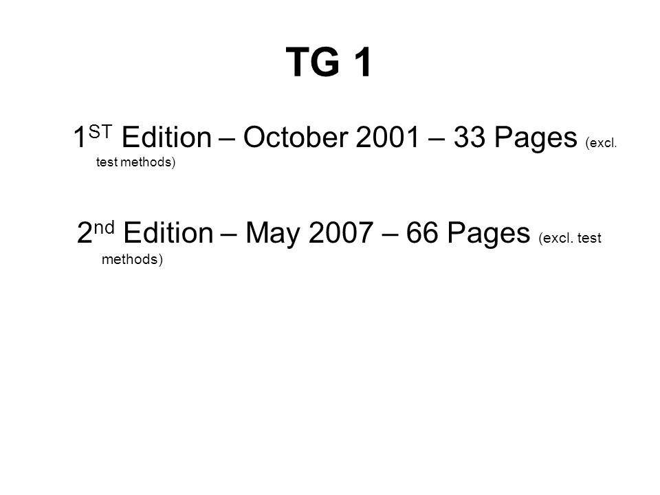 TG 1 1 ST Edition – October 2001 – 33 Pages ( excl.