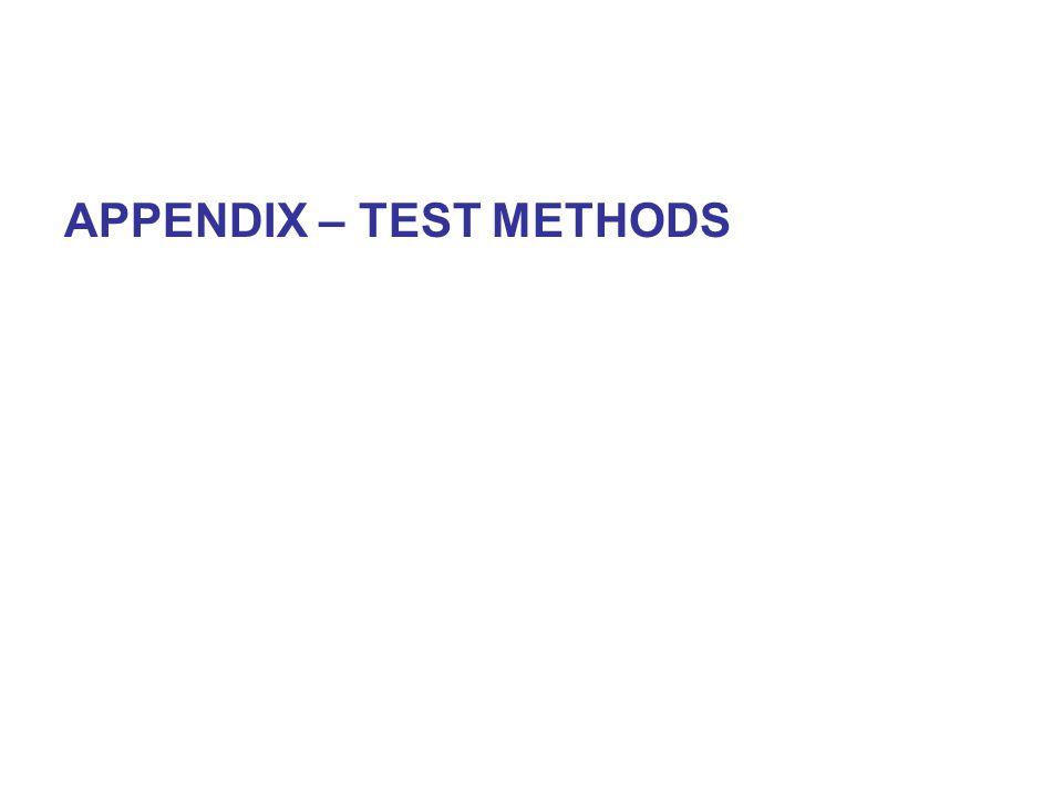 APPENDIX – TEST METHODS