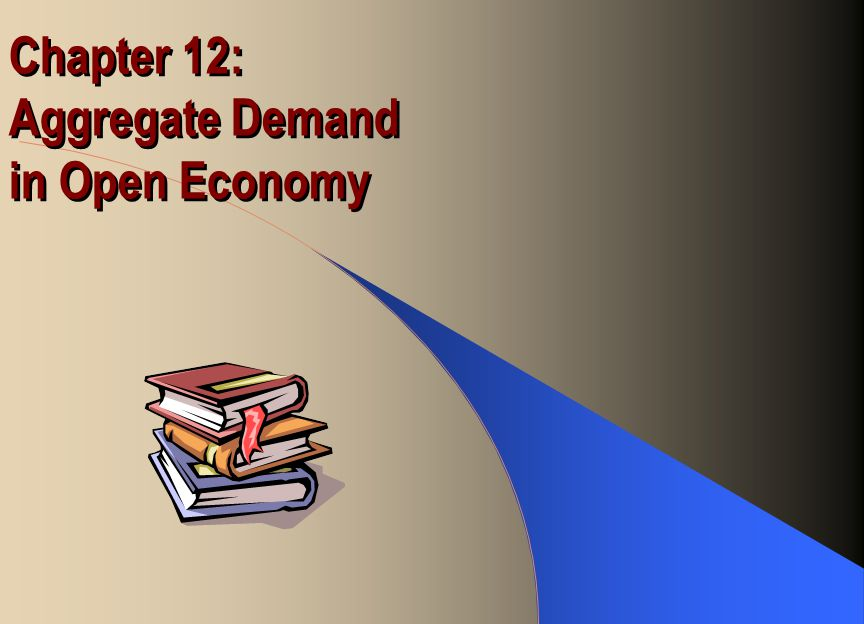 Chapter 12: Aggregate Demand in Open Economy