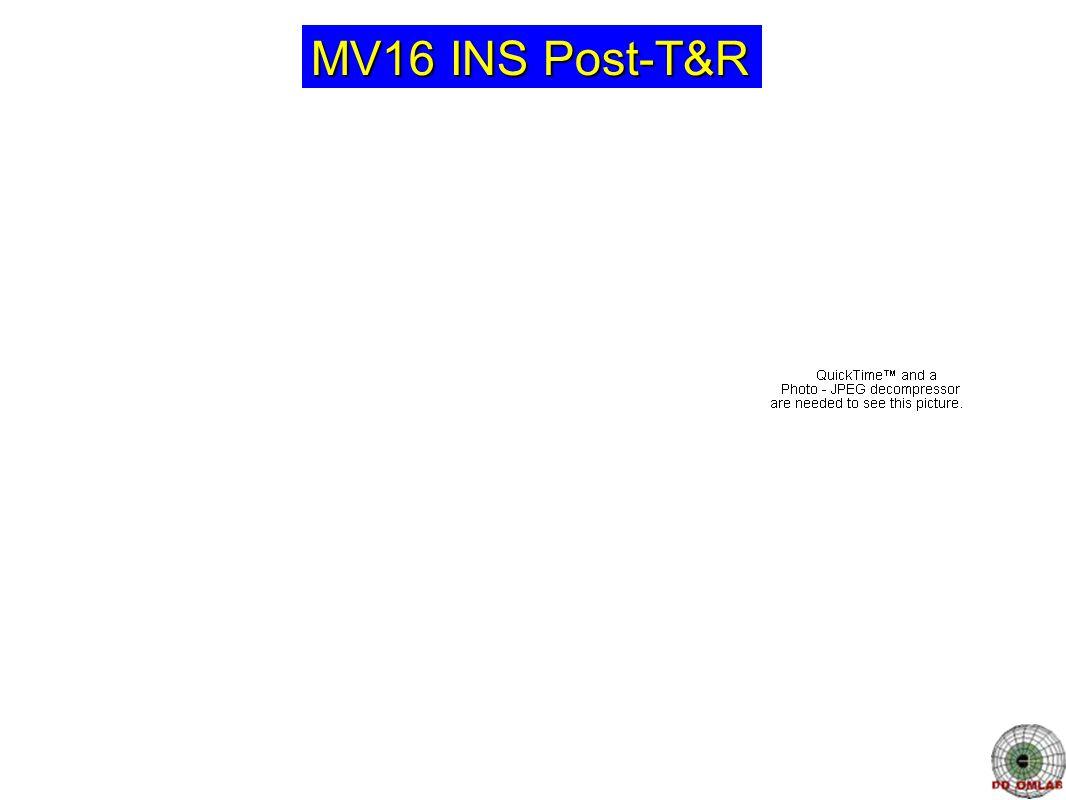 MV16 INS Post-T&R