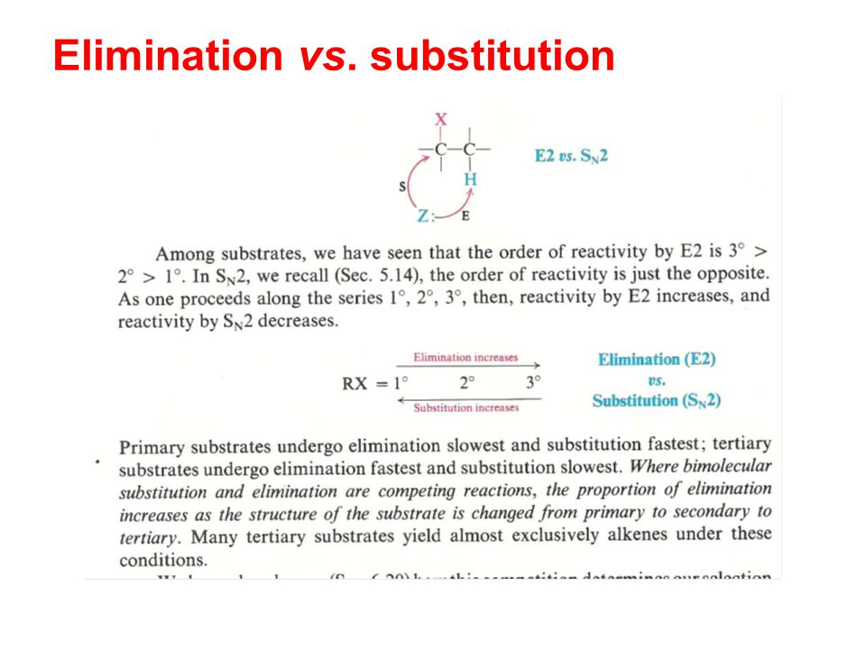 Elimination vs. substitution