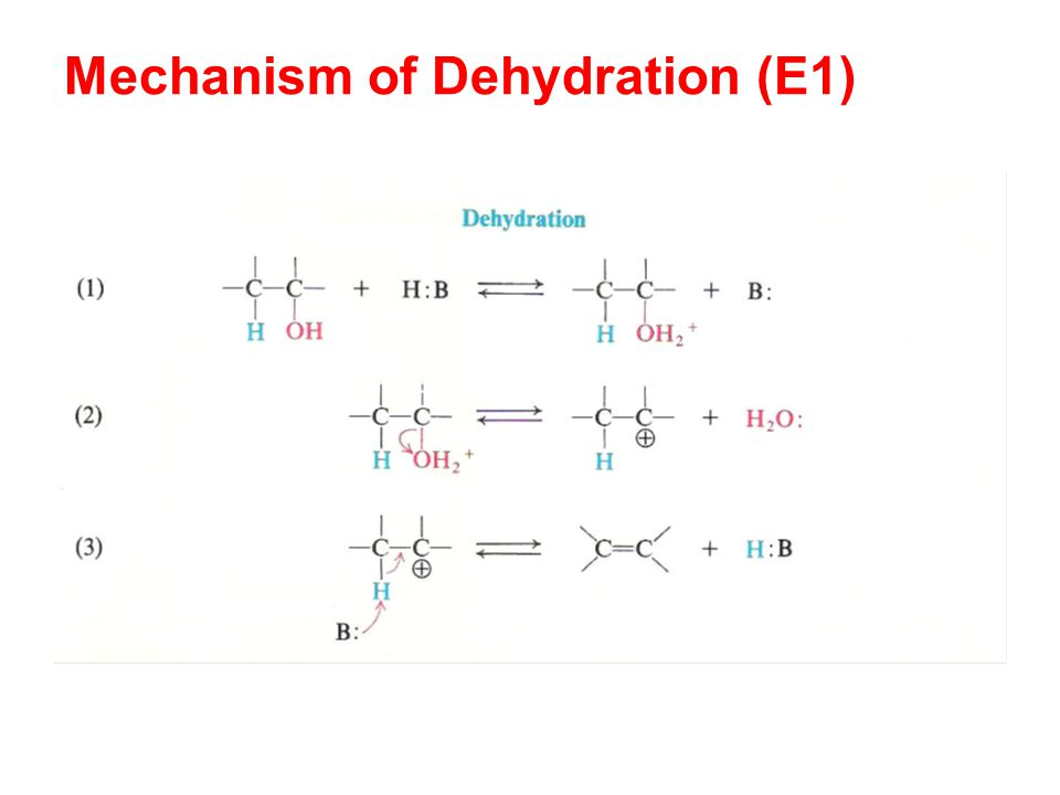 Mechanism of Dehydration (E1)
