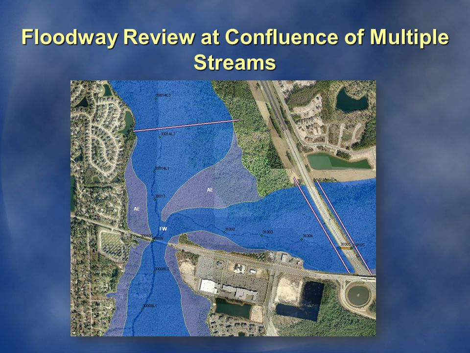Floodway Review at Confluence of Multiple Streams