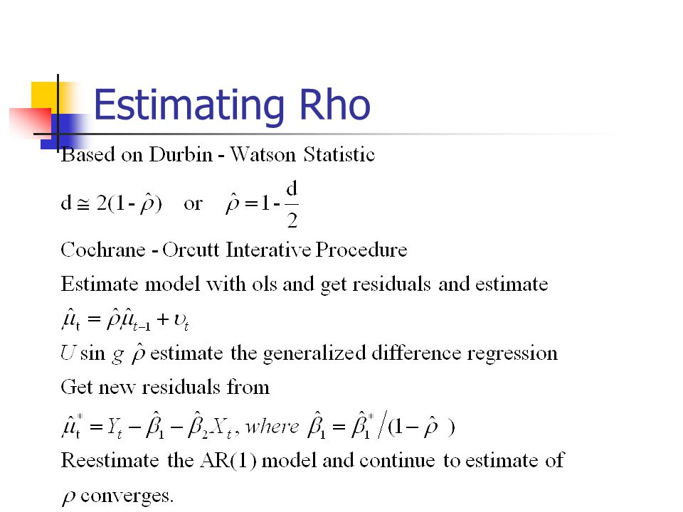 Estimating Rho