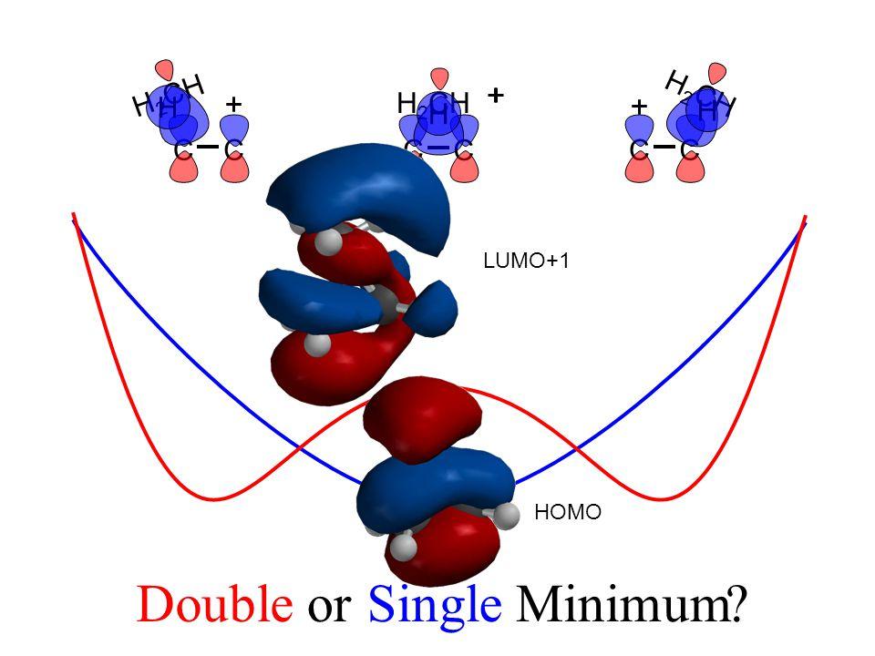 CCCCCC H 2 CH Doubleor MinimumSingle LUMO+1 HOMO H H H