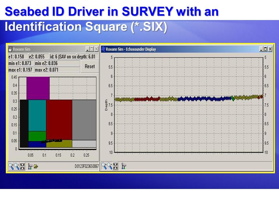 Seabed ID Driver in SURVEY with an Identification Square (*.SIX)