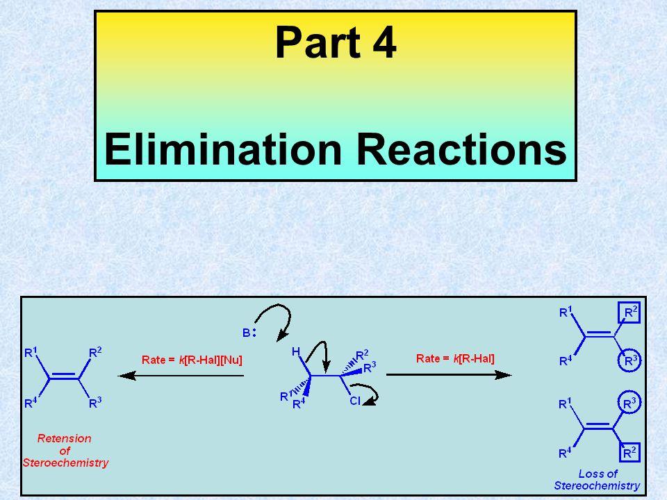 Part 4 Elimination Reactions