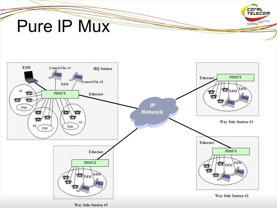 Pure IP Mux PDMUX Ethernet EMS Control Ckt. #1 HQ Station Control Ckt.