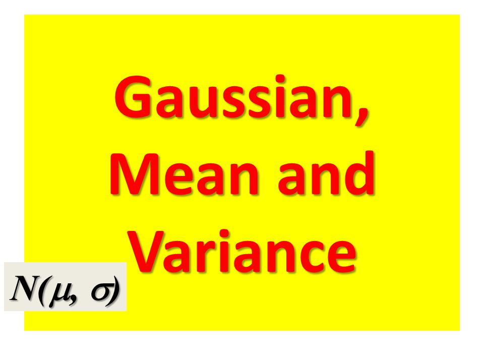 Gaussian, Mean and Variance N( ,  )
