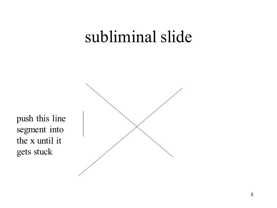 subliminal slide push this line segment into the x until it gets stuck 8