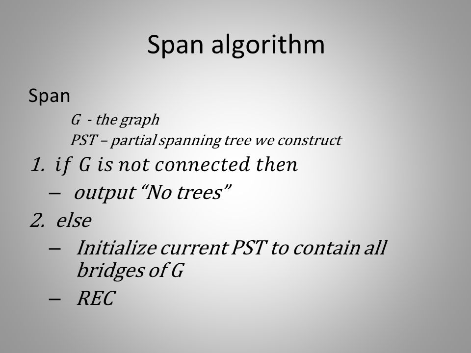Span algorithm