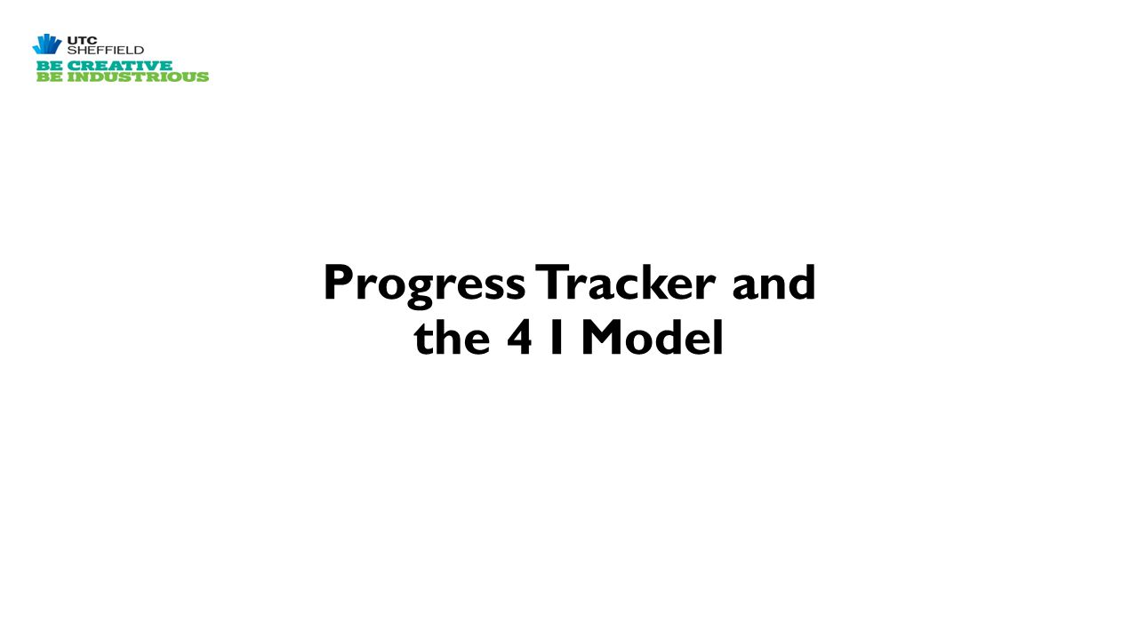 Progress Tracker and the 4 I Model