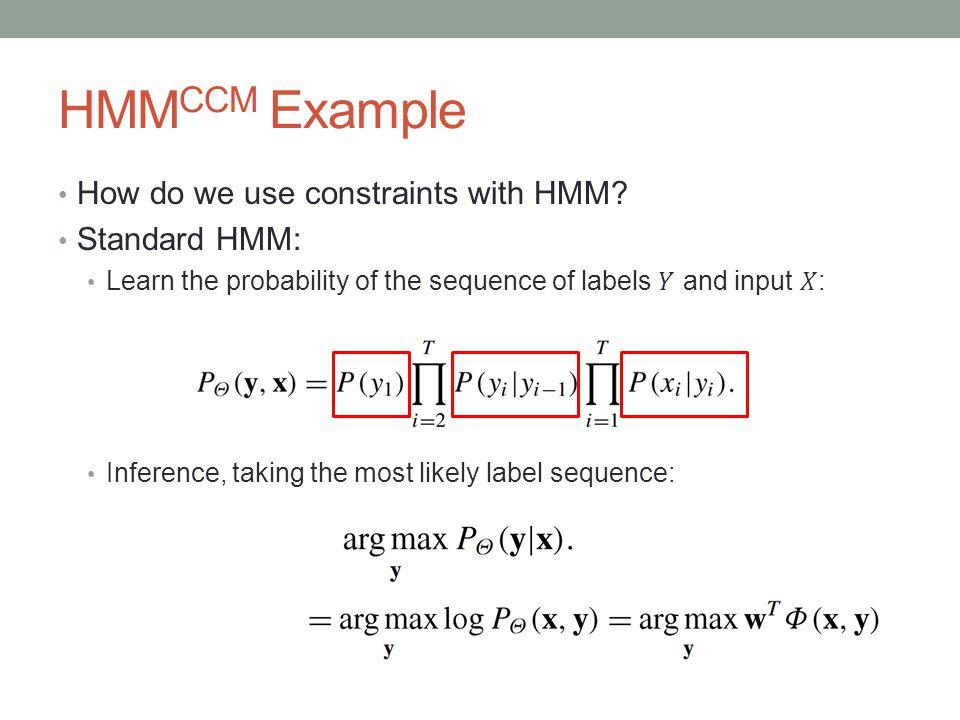 HMM CCM Example