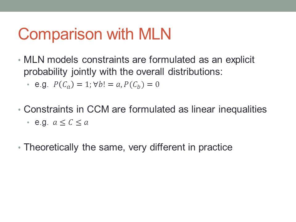 Comparison with MLN