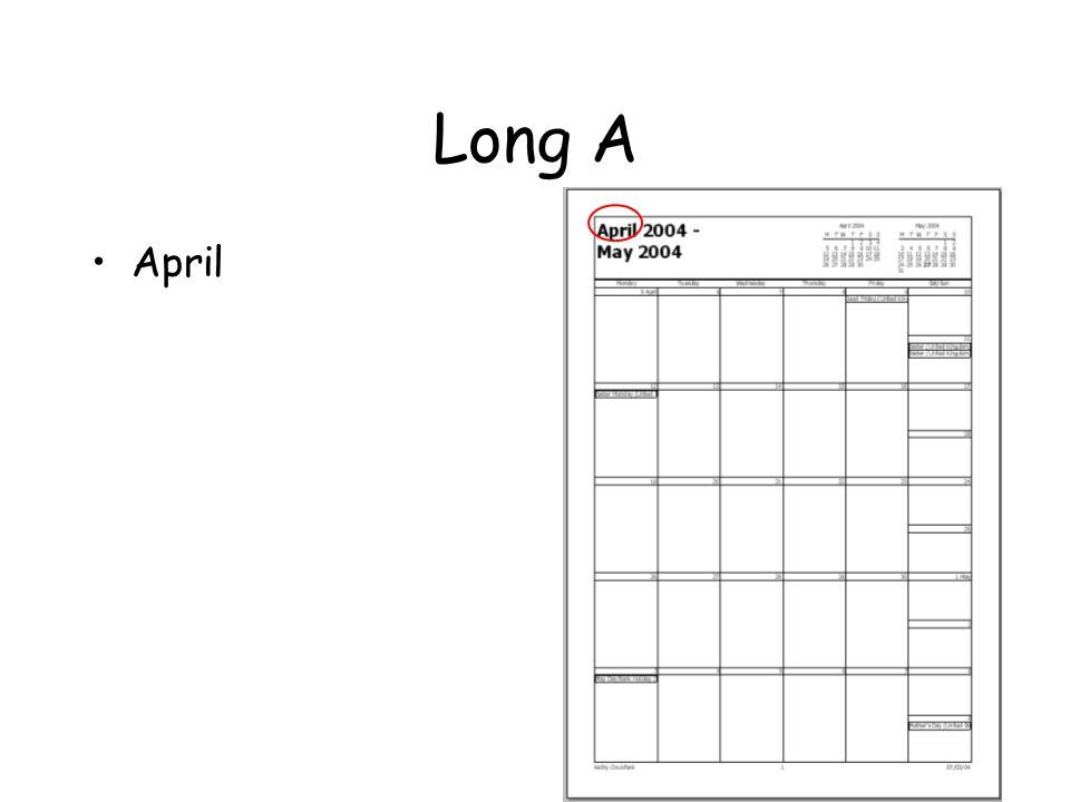 Long A April