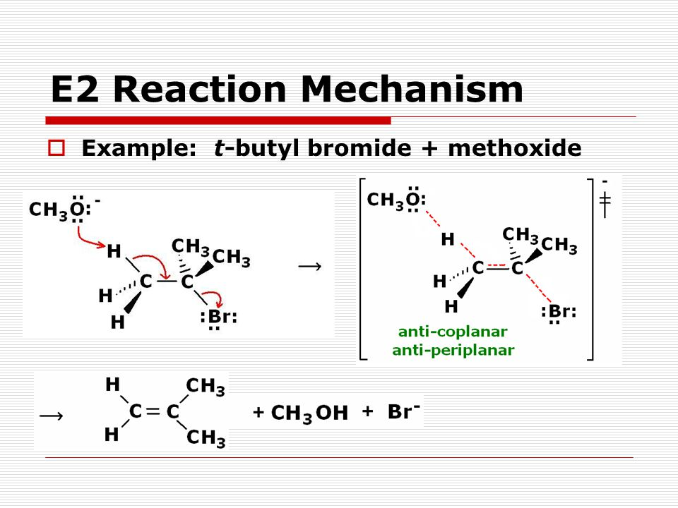 E2 Reactions - Summary  The structure of the substrate affects the rate.
