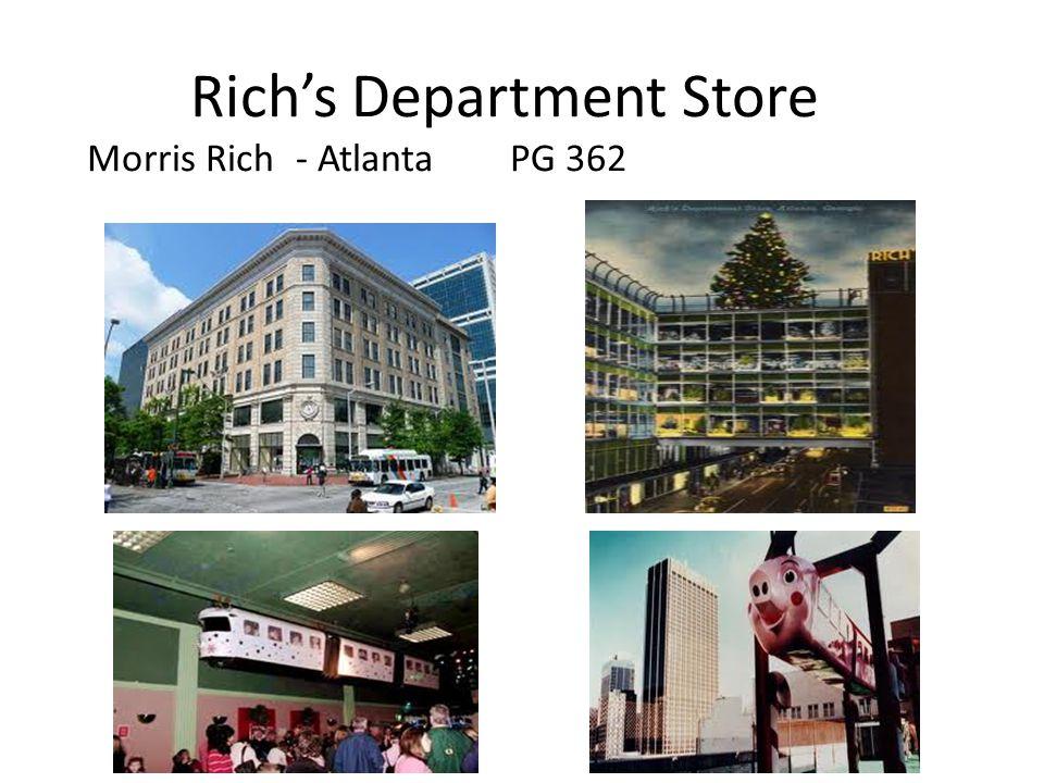 Rich's Department Store Morris Rich- Atlanta PG 362