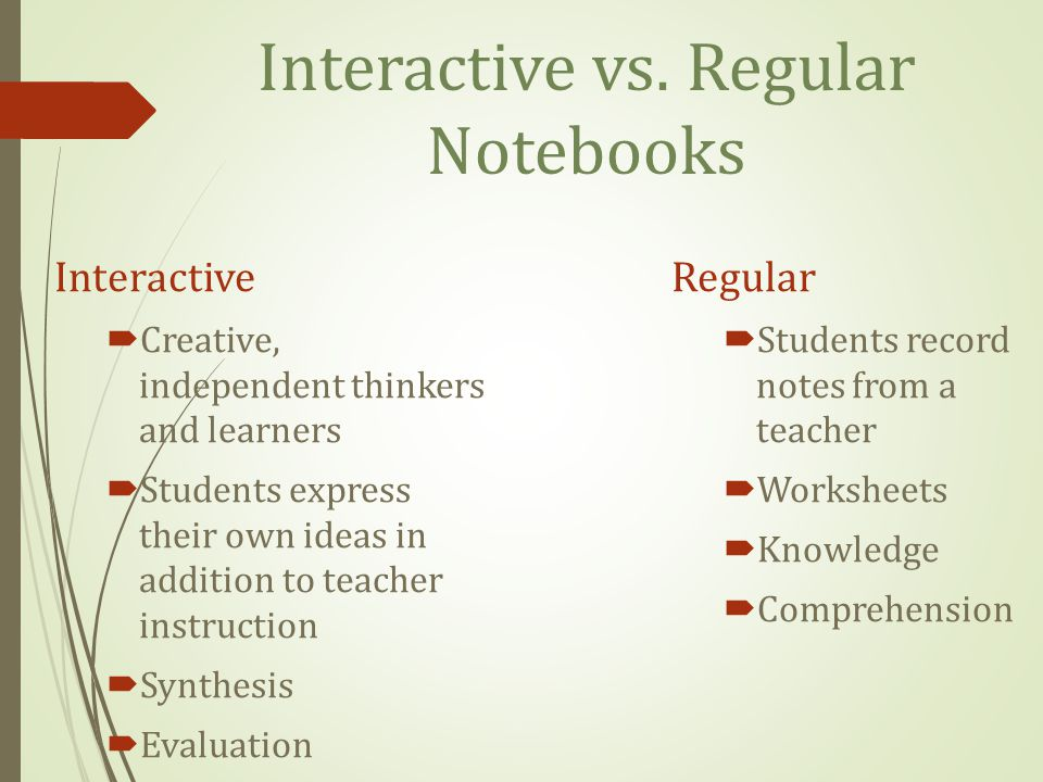 Interactive vs.