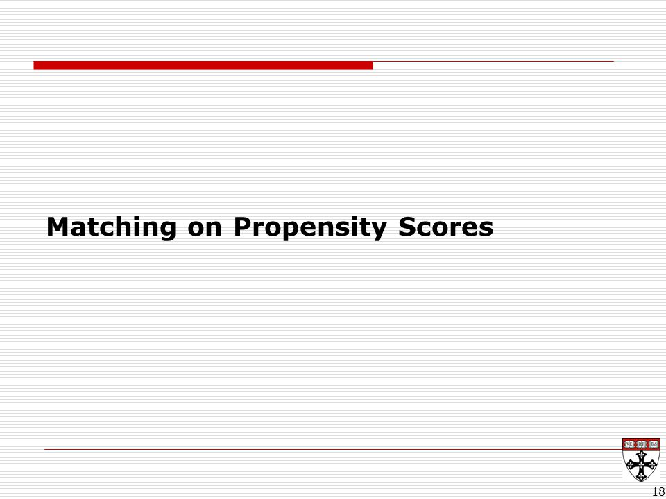 18 Matching on Propensity Scores