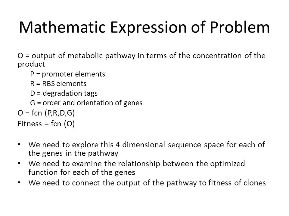 Protocol Step 4 Express Hin and reshuffle the orientation and order of the Gene Expression cassettes – Allow complex effects of readthrough transcription – Eg.