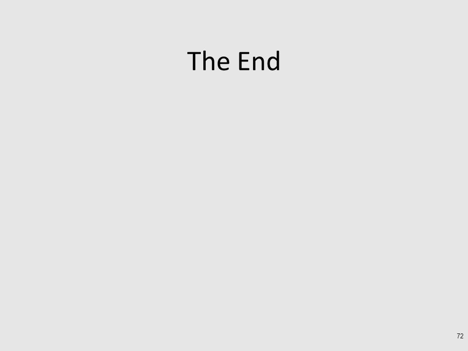 The End 72