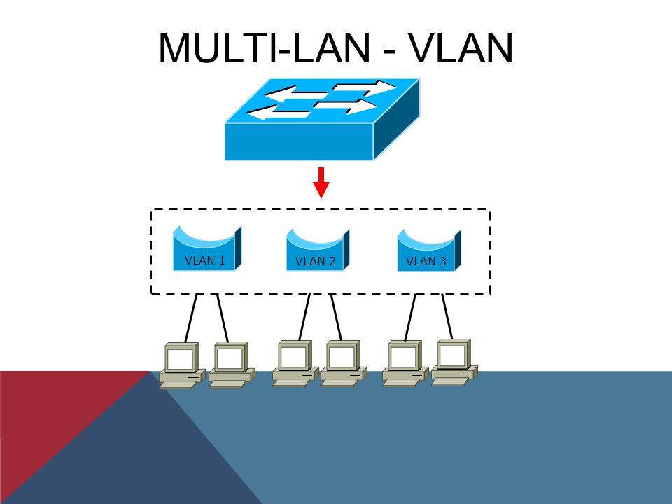 MULTI-LAN - VLAN VLAN 1 VLAN 2 VLAN 3