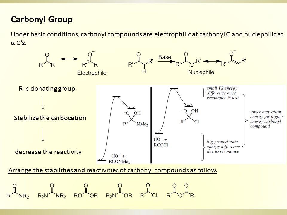 Carbonyl Group As Electrophile a.M-Nu (R-MgBr, NaBH 4, LiAlH 4, R 2 CuLi) b.