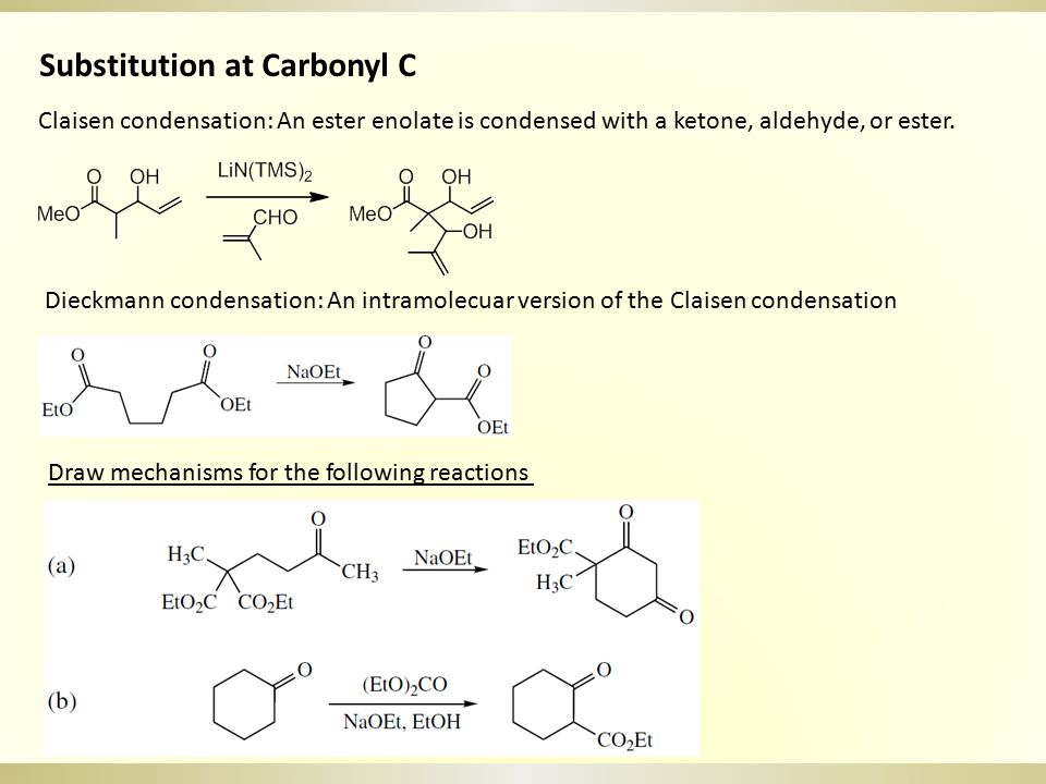 Substitution at Alkenyl C and Aryl C(S N Ar) α, β-Unsaturated carbonyl compounds with a leaving group in the β position are susceptible to addition-elimination reactions.