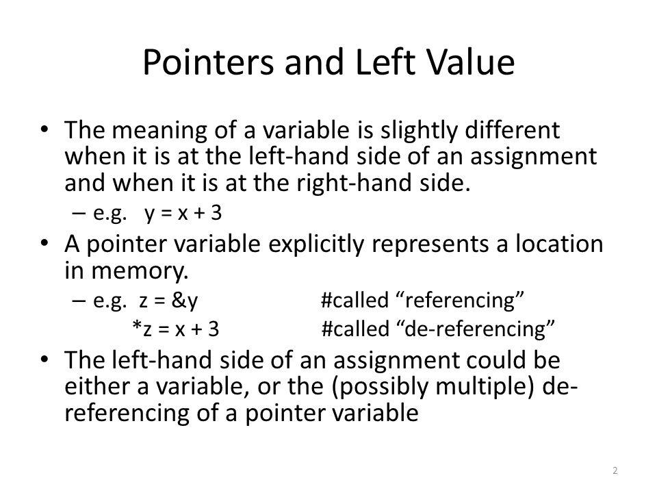 Grammar of a C-like language P : Program L : LefthandSide CL : CommandList C : Command E : Expression I : Variable N : Numeral P ::= CL CL ::= C | C ; CL C ::= L = E | while E : C end | print L | E ::= N | ( E1 + E2 ) | L | & L L ::= I | * L N ::= string of digits I ::= strings of letters, not including the keywords 3