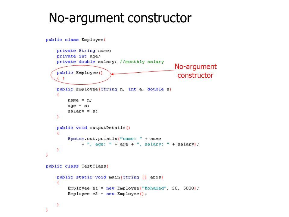 No-argument constructor