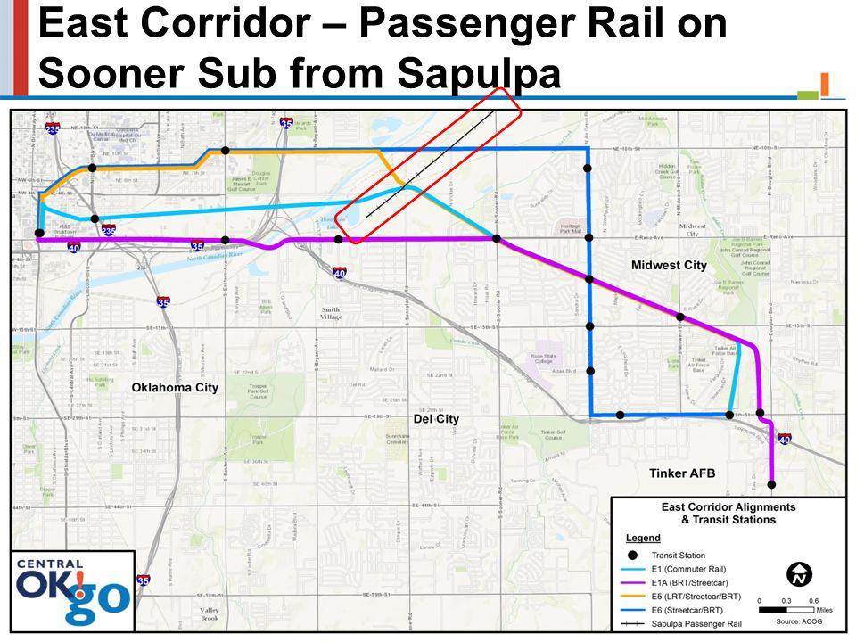 East Corridor – Passenger Rail on Sooner Sub from Sapulpa