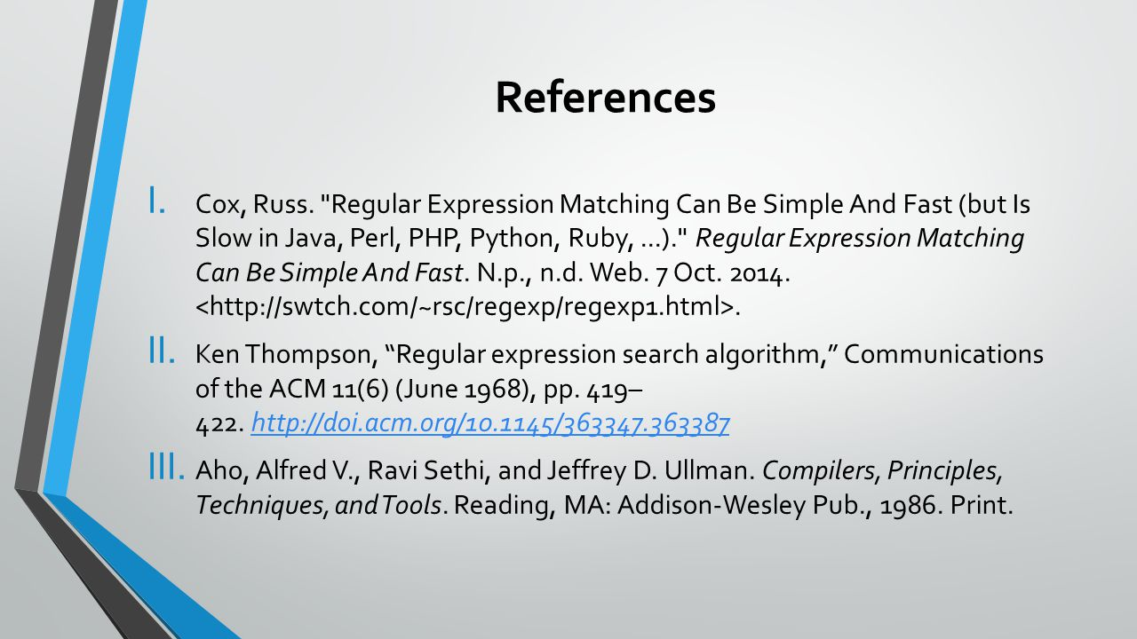 References I. Cox, Russ.