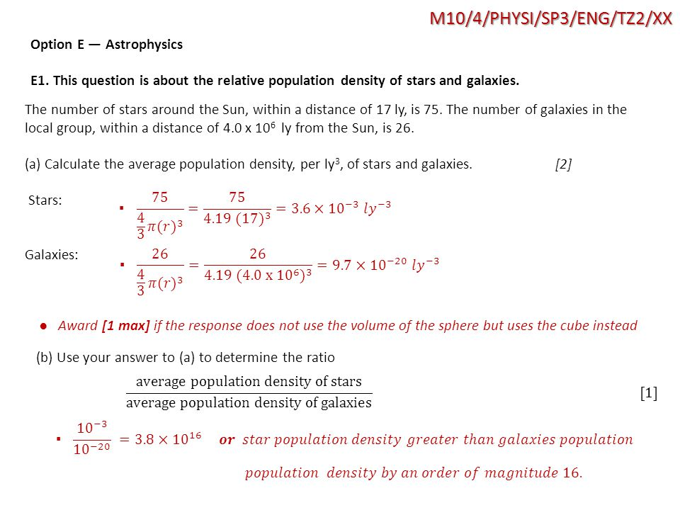 M10/4/PHYSI/SP3/ENG/TZ2/XX Option E — Astrophysics E1.