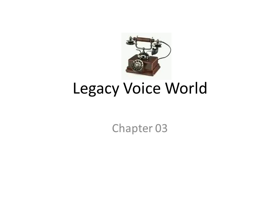 Legacy Voice World Chapter 03