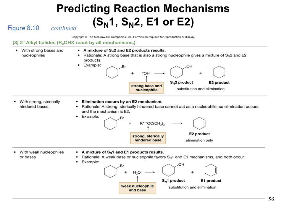 56 Figure 8.10 continued Predicting Reaction Mechanisms (S N 1, S N 2, E1 or E2)
