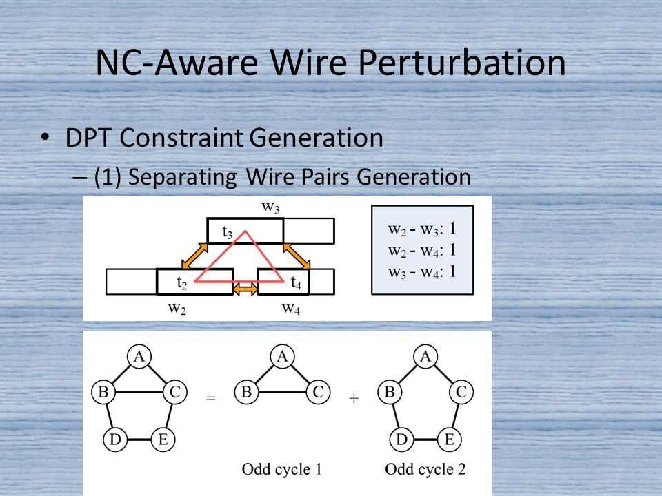 DPT Constraint Generation – (1) Separating Wire Pairs Generation