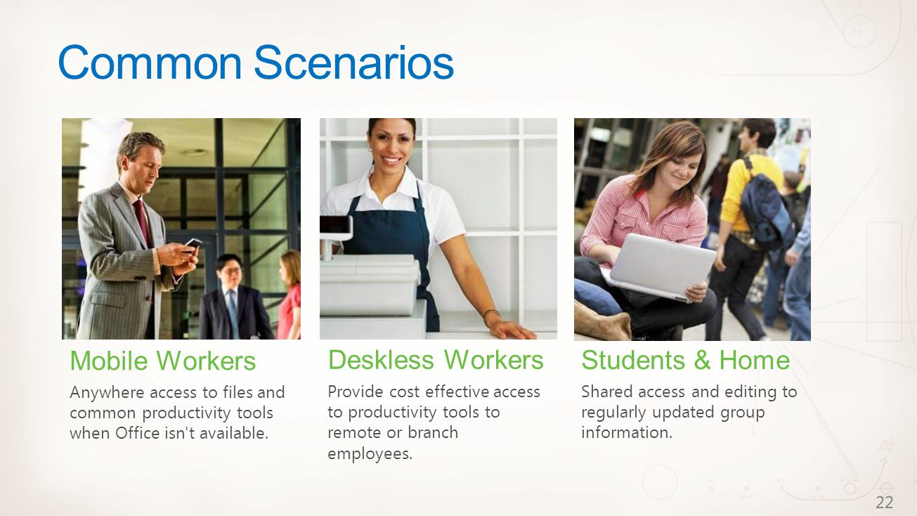Common Scenarios Students & Home Shared access and editing to regularly updated group information.