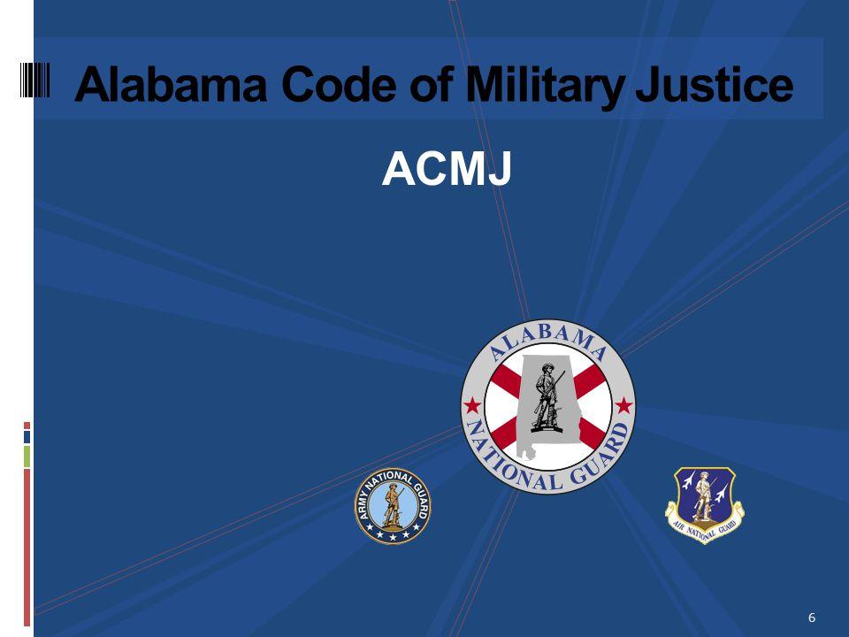 ACMJ Alabama Code of Military Justice 6
