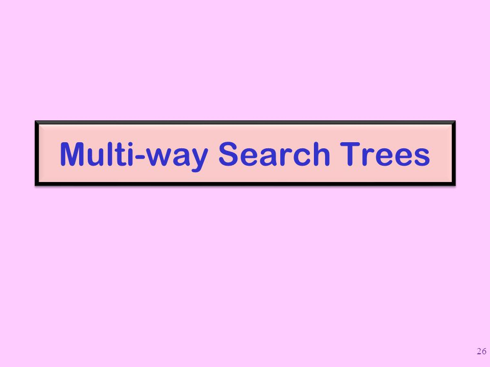 Multi-way Search Trees 26