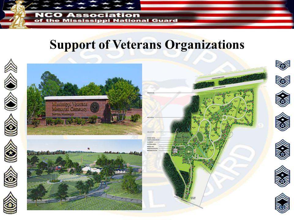 Support of Veterans Organizations