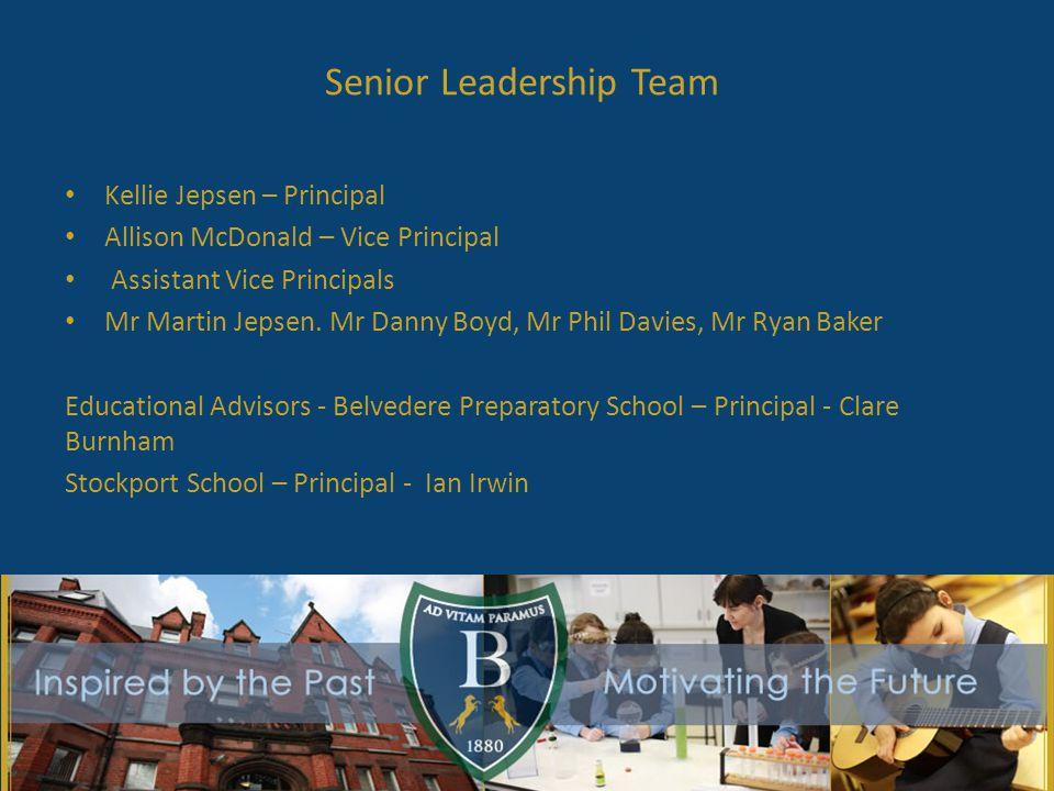 Senior Leadership Team Kellie Jepsen – Principal Allison McDonald – Vice Principal Assistant Vice Principals Mr Martin Jepsen.